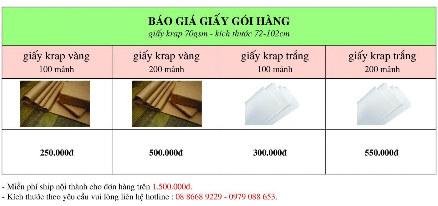 Báo giá giấy gói hàng giá rẻ giao hàng ngay tại Hà Nội